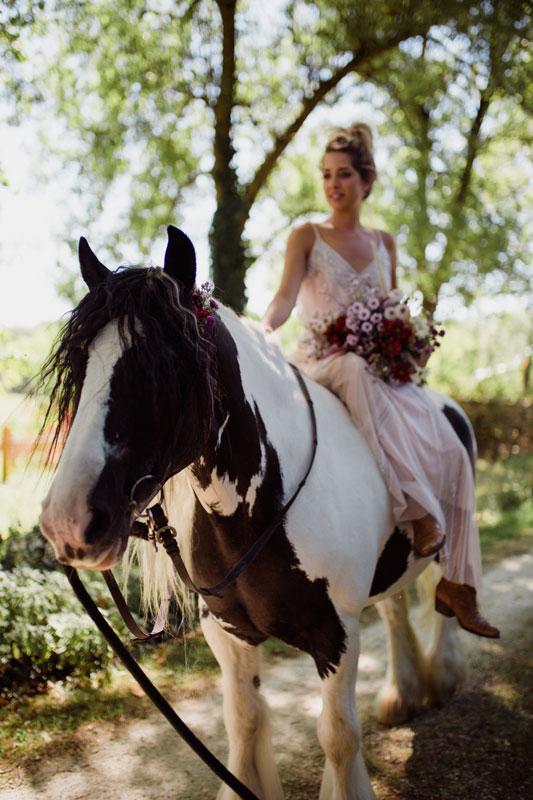 bride on horseback France