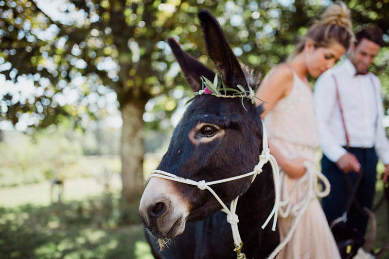 beer donkey at chateau wedding