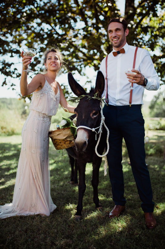 wedding horse at chateau